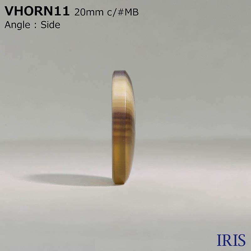 VHORN11 ポリエステル樹脂 表穴4つ穴ボタン  6サイズ5色展開