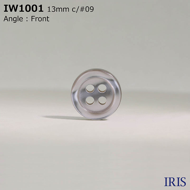 IW1001 ポリエステル樹脂 表穴4つ穴ボタン  4サイズ2色展開