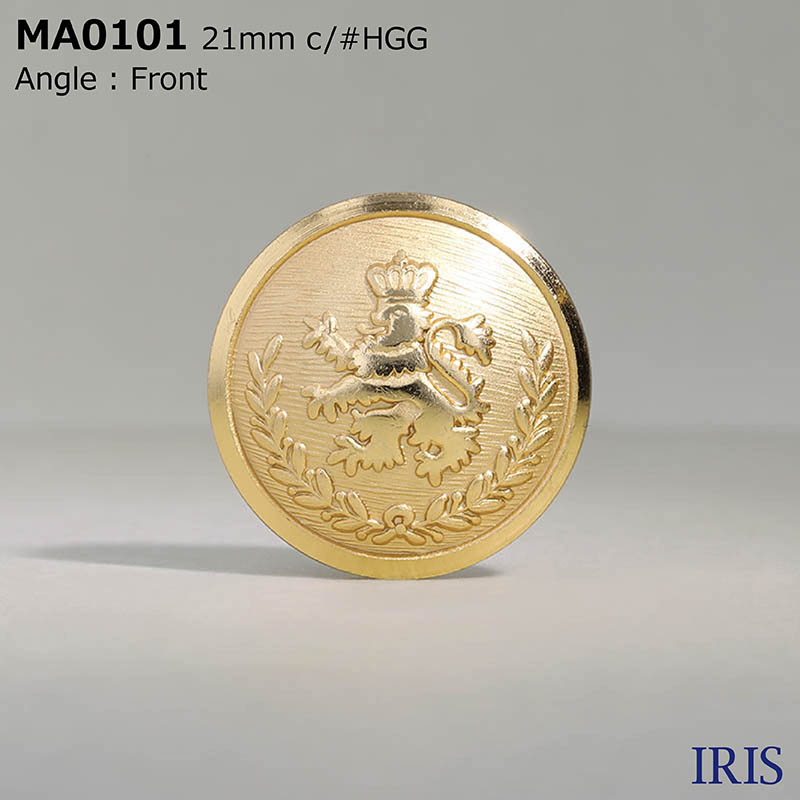 MA0101 真鍮 丸カン足ボタン  4サイズ2色展開
