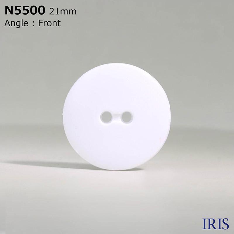N5500 ナイロン樹脂 表穴2つ穴ボタン  8サイズ1色展開
