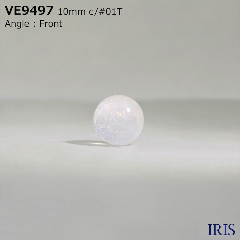 VE9497 ポリエステル樹脂 トンネル足ボタン  2サイズ2色展開