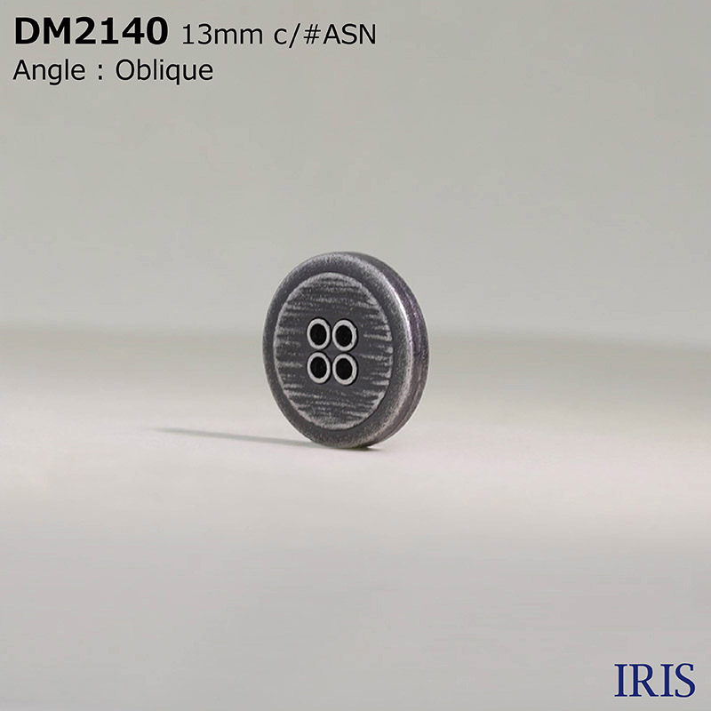 DM2140 ダイカスト 表穴4つ穴ボタン  2サイズ3色展開