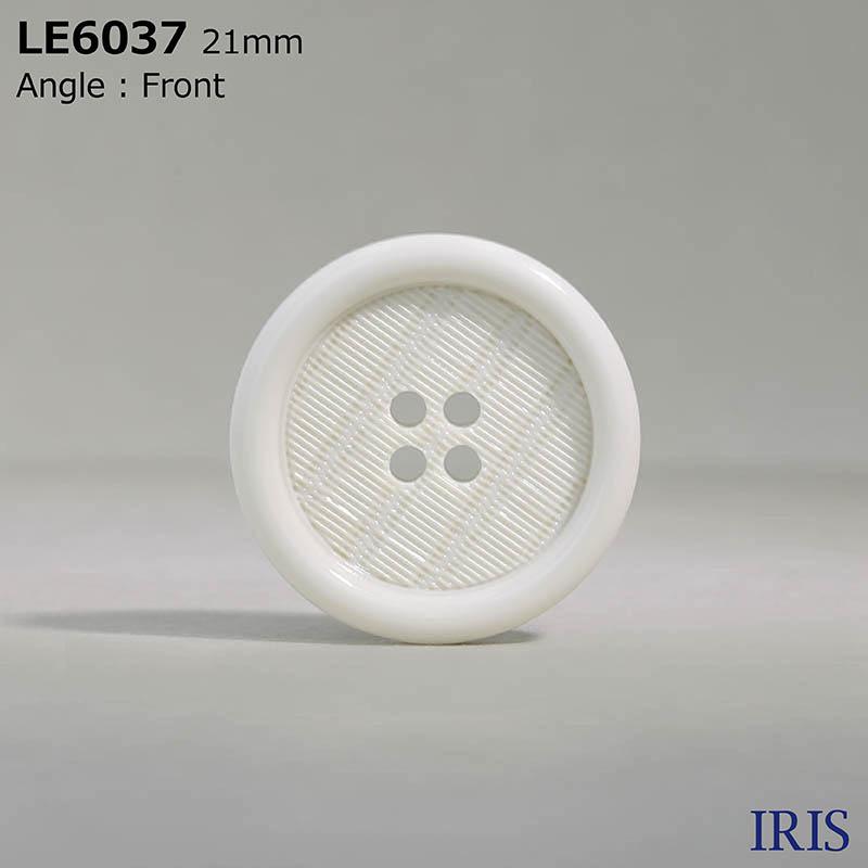 LE6037 カゼイン樹脂 表穴4つ穴ボタン  5サイズ2色展開