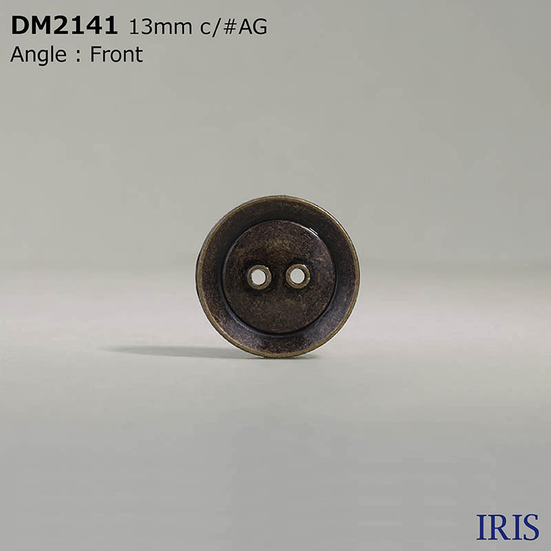 DM2141 ダイカスト 表穴2つ穴ボタン  2サイズ3色展開