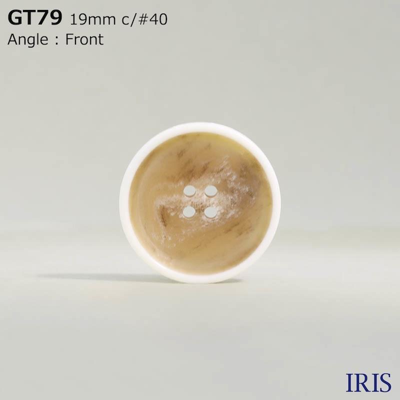 GT79 ポリエステル樹脂 表穴4つ穴ボタン  2サイズ6色展開