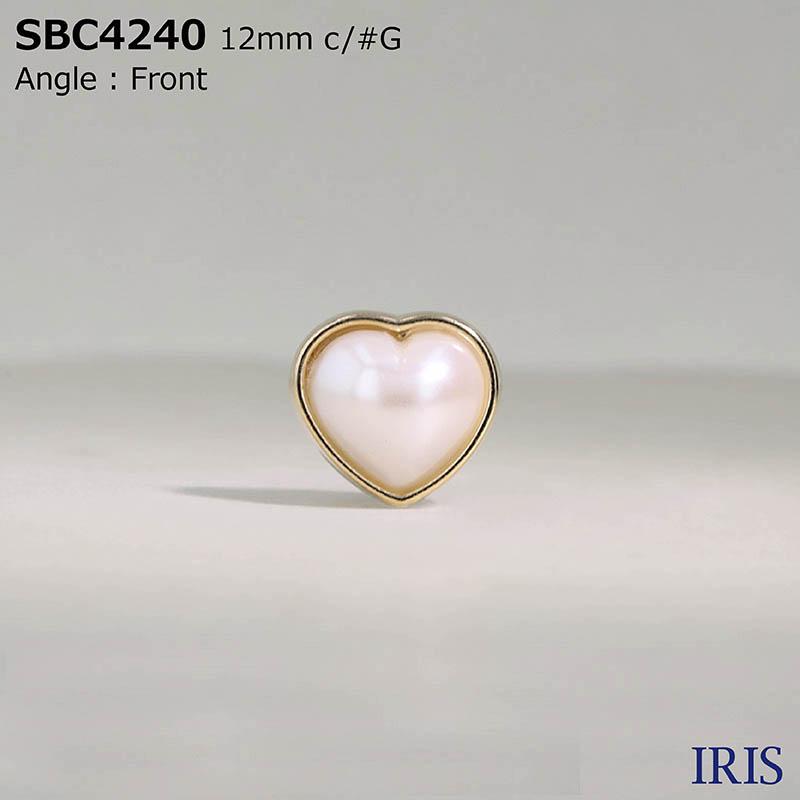 SBC4240 パールコーティング/ダイカスト 半丸カン足ボタン  2サイズ2色展開
