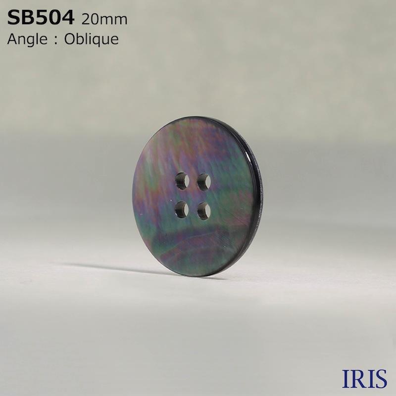 SB504 黒蝶貝 表穴4つ穴ボタン  7サイズ1色展開