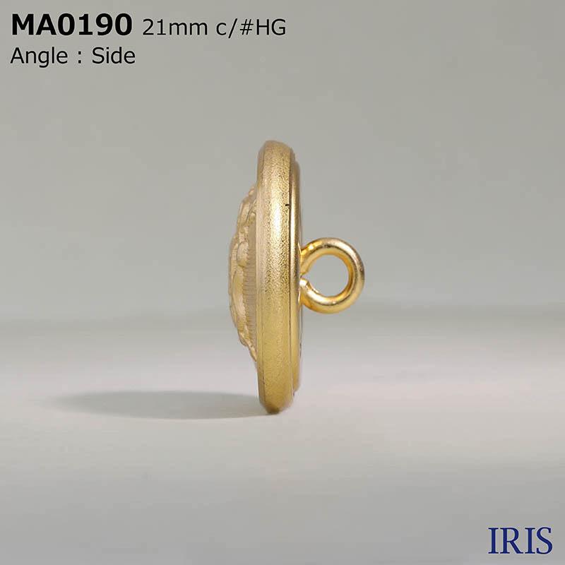 MA0190 真鍮 丸カン足ボタン  6サイズ2色展開