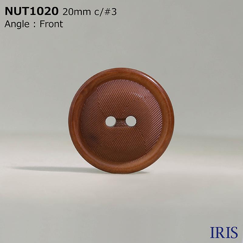 NUT1020 ナット 表穴2つ穴ボタン  5サイズ7色展開