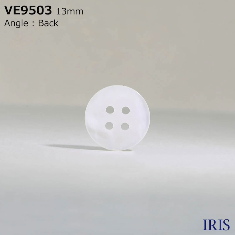 VE9503 ポリエステル樹脂 表穴4つ穴ボタン  2サイズ1色展開
