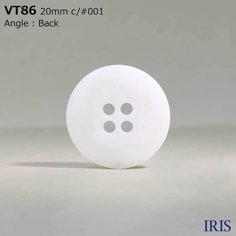 VT86 ポリエステル樹脂 表穴4つ穴ボタン  6サイズ1色展開