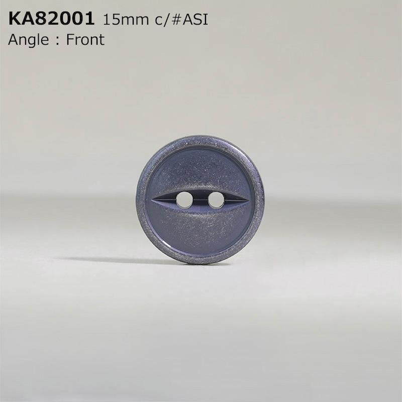KA82001 ABS樹脂 表穴2つ穴ボタン  3サイズ2色展開