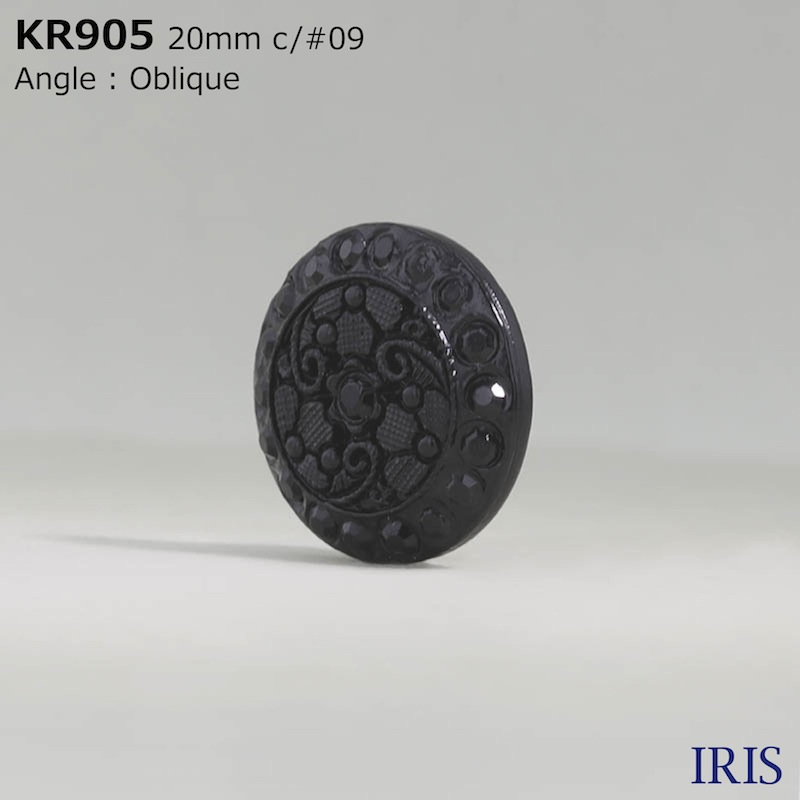 KR905 アクリル樹脂 トンネル足ボタン  3サイズ1色展開