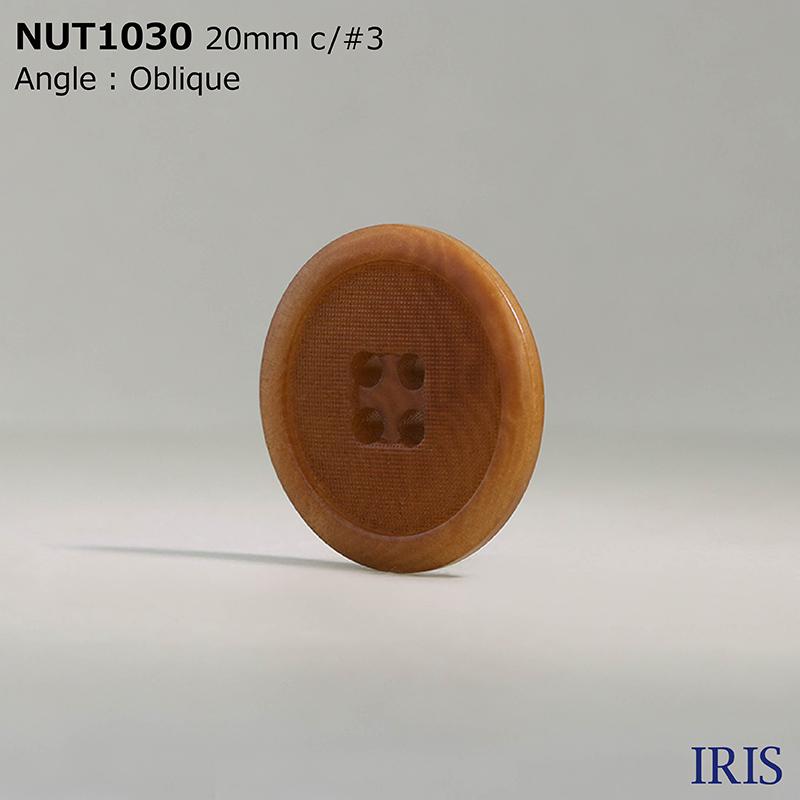 NUT1030 ナット 表穴4つ穴ボタン  5サイズ7色展開