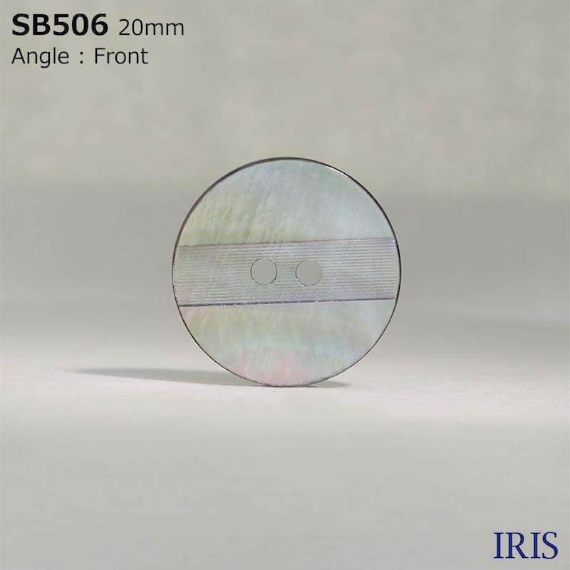 SB506 黒蝶貝 表穴2つ穴ボタン  5サイズ1色展開