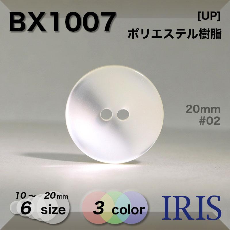 BX1007 ポリエステル樹脂 表穴2つ穴ボタン  6サイズ3色展開