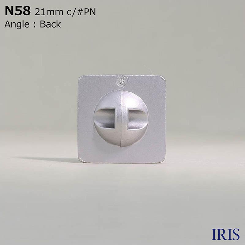 N58 ABS樹脂 トンネル足ボタン  5サイズ6色展開