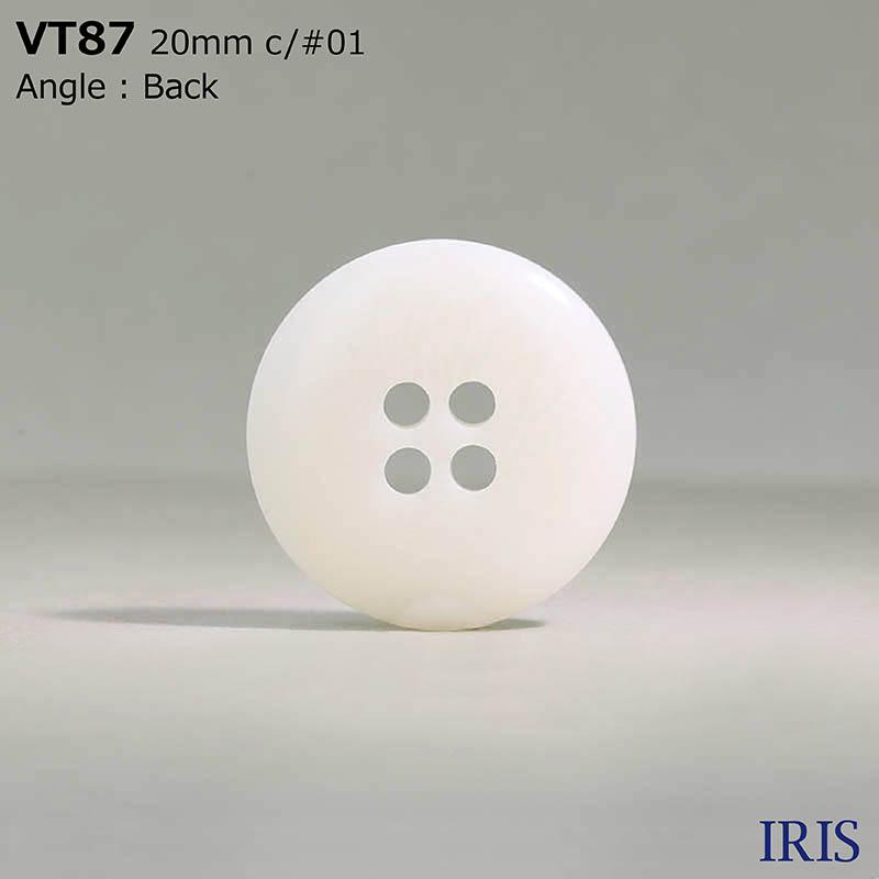 VT87 ポリエステル樹脂 表穴4つ穴ボタン  8サイズ1色展開
