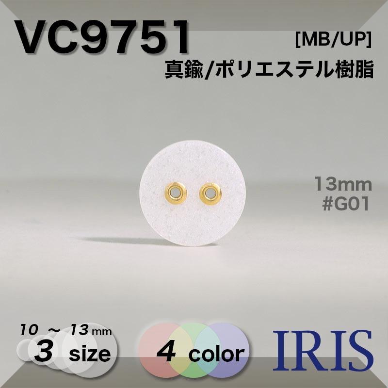 VC9751 真鍮/ポリエステル樹脂 表穴2つ穴ボタン  3サイズ4色展開