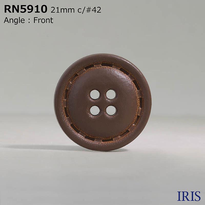 RN5910 ナイロン樹脂 表穴4つ穴ボタン  5サイズ6色展開
