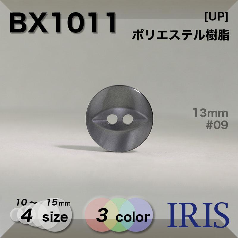 BX1011 ポリエステル樹脂 表穴2つ穴ボタン  4サイズ3色展開