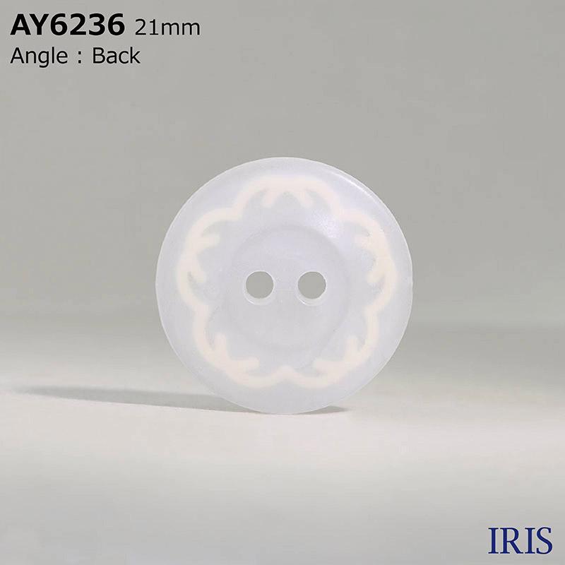 AY6236 エポキシ樹脂/ポリカーボネート樹脂 表穴2つ穴ボタン  4サイズ1色展開