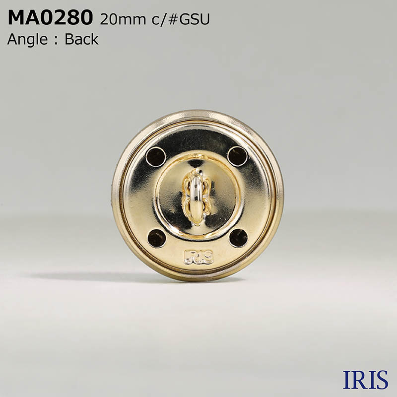 MA0280 真鍮 丸カン足ボタン  4サイズ3色展開
