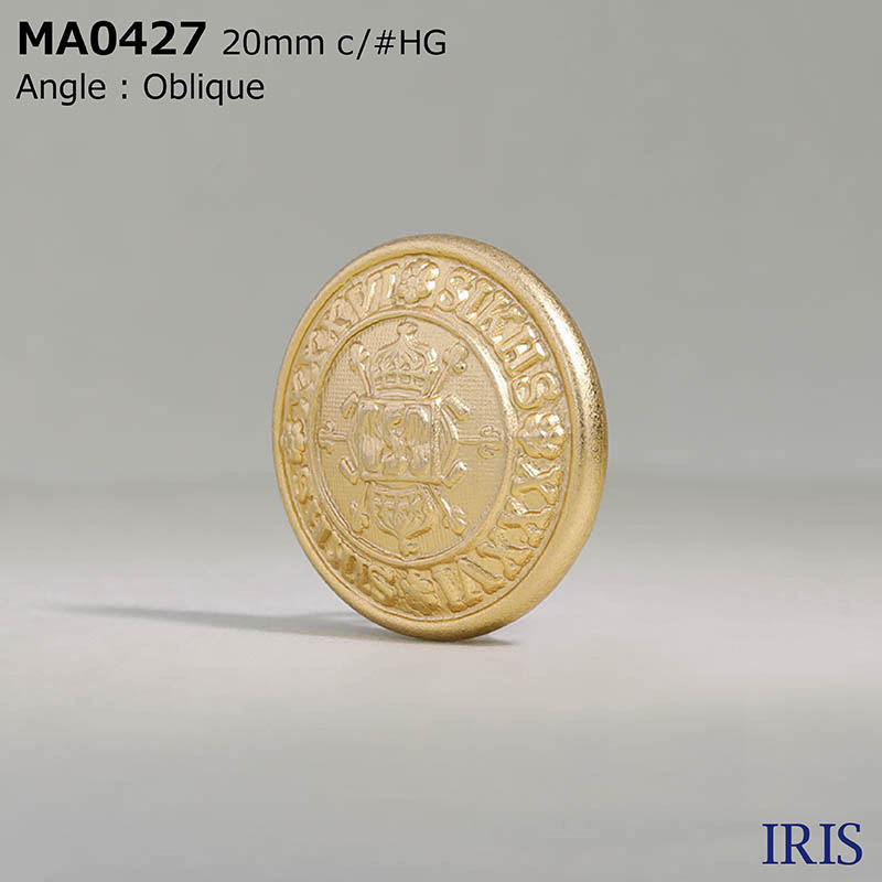MA0427 真鍮 丸カン足ボタン  4サイズ2色展開