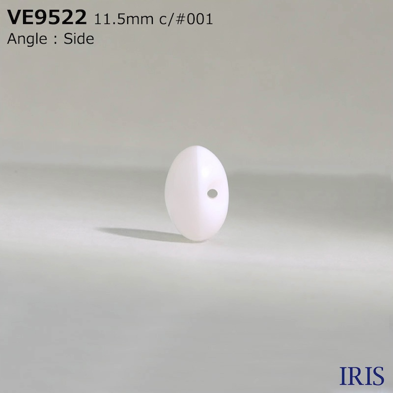 VE9522 ポリエステル樹脂 トンネル足ボタン  3サイズ1色展開