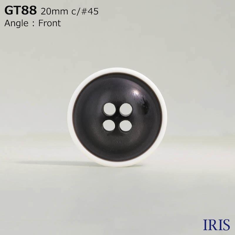GT88 ポリエステル樹脂 表穴4つ穴ボタン  2サイズ3色展開
