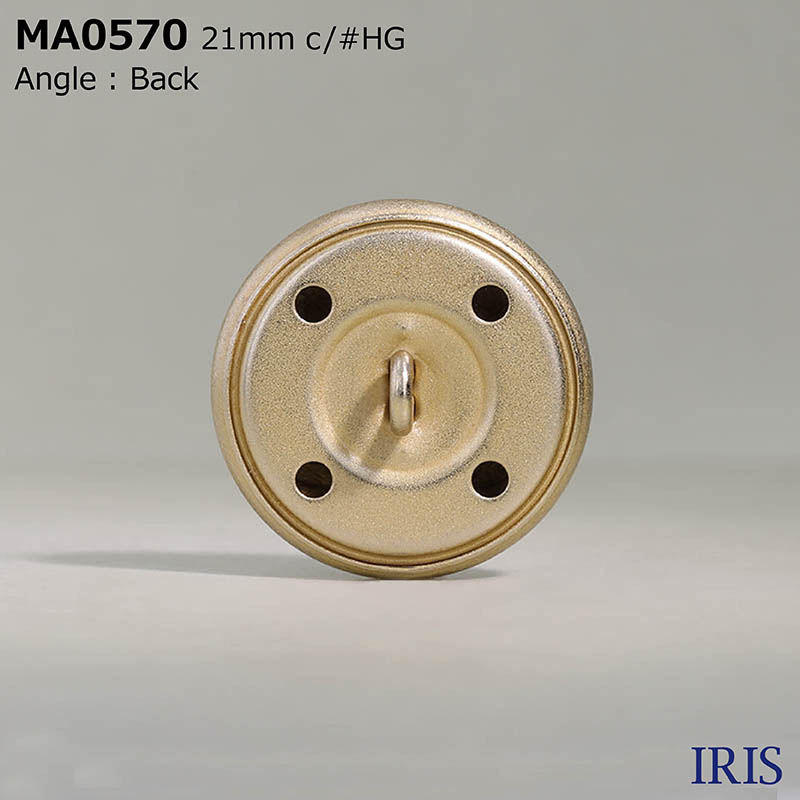 MA0570 真鍮 丸カン足ボタン  4サイズ1色展開