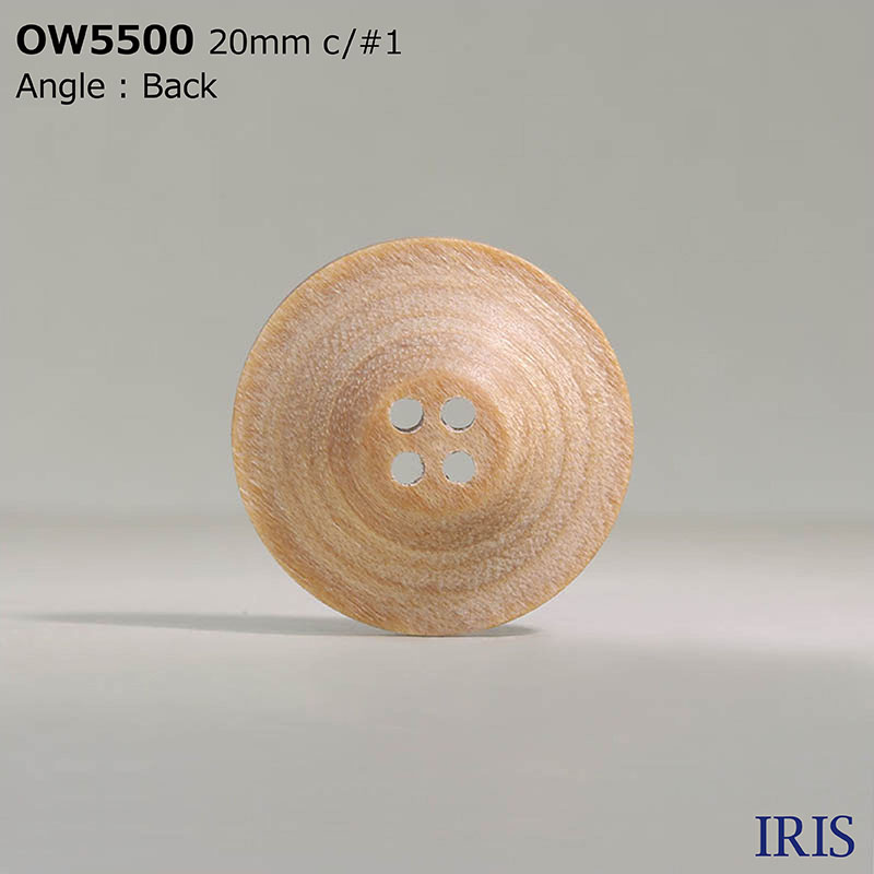 OW5500 木、合板 表穴4つ穴ボタン  4サイズ4色展開