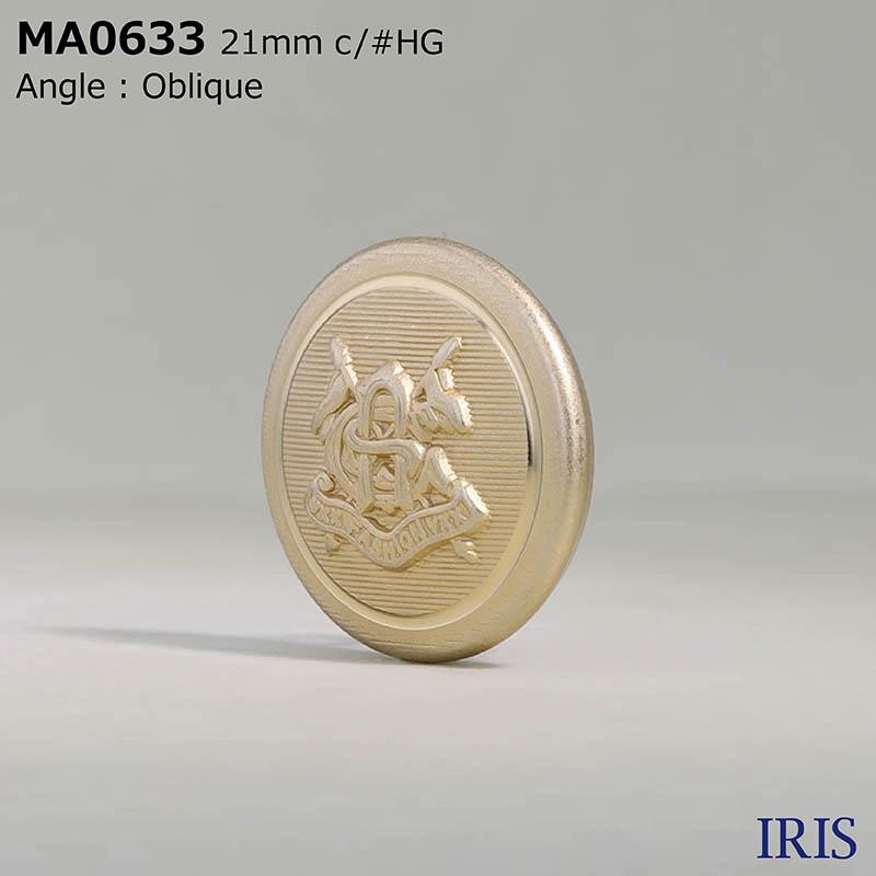 MA0633 真鍮 丸カン足ボタン  4サイズ1色展開