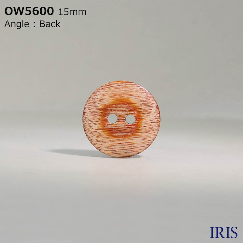OW5600 木、合板 表穴2つ穴ボタン  4サイズ1色展開