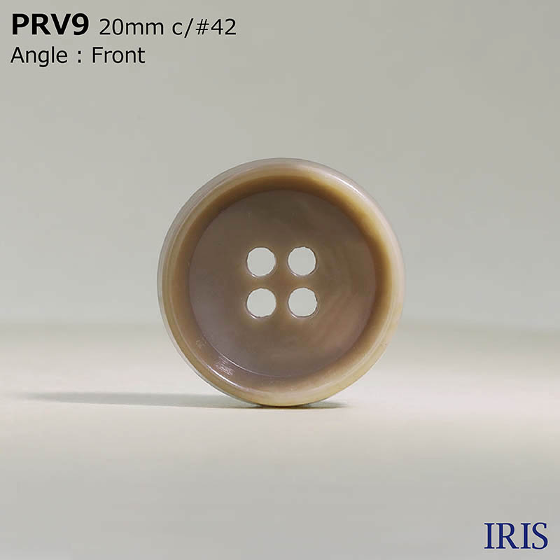 PRV9 ユリア樹脂 表穴4つ穴ボタン  5サイズ11色展開