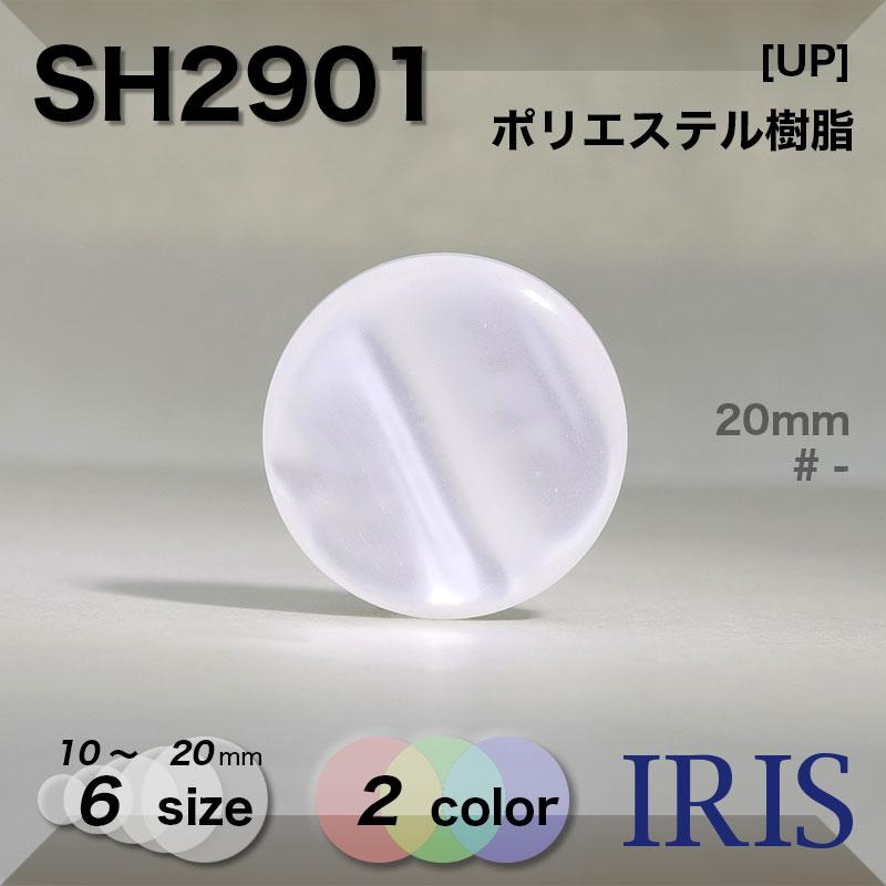 SH2901 ポリエステル樹脂 角足ボタン  6サイズ2色展開