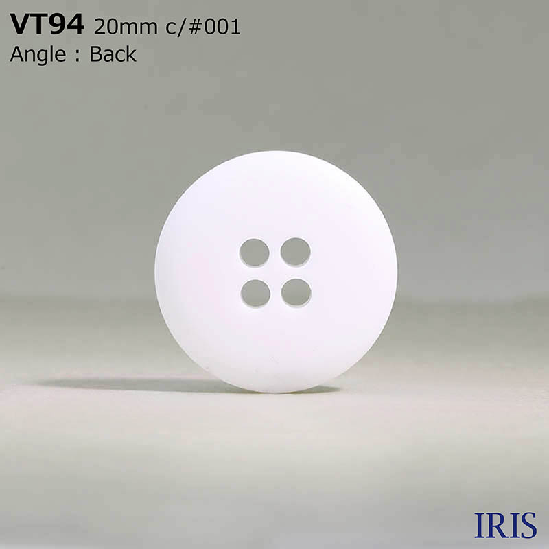 VT94 ポリエステル樹脂 表穴4つ穴ボタン  5サイズ1色展開
