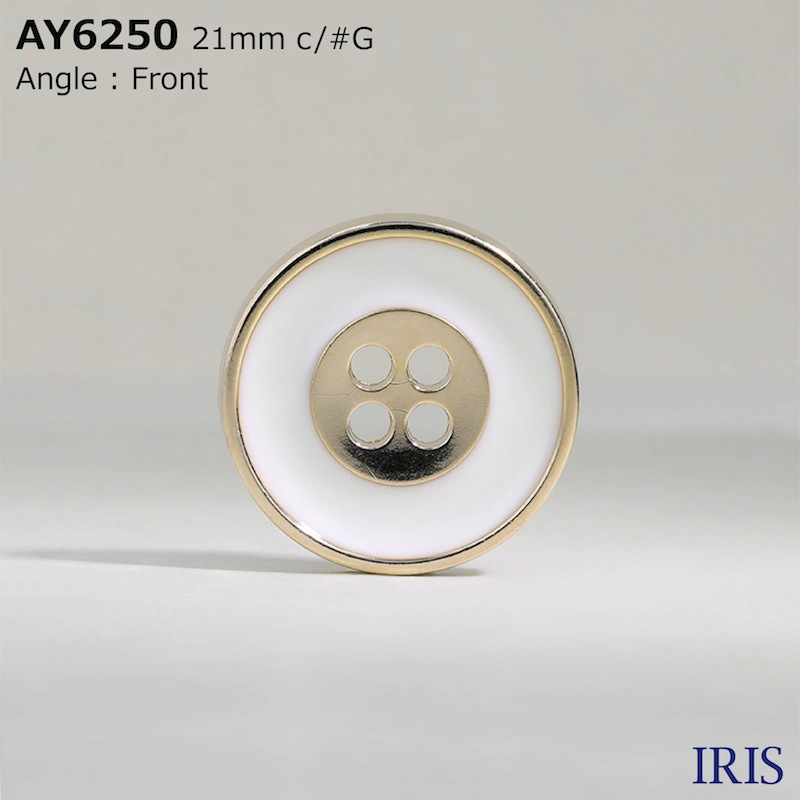 AY6250 エポキシ樹脂/ABS樹脂 表穴4つ穴ボタン  6サイズ2色展開