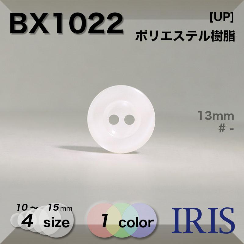 BX1022 ポリエステル樹脂 表穴2つ穴ボタン  4サイズ1色展開