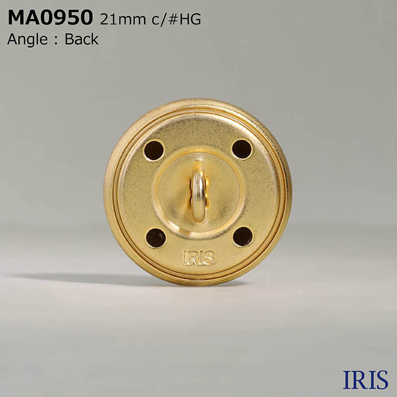 MA0950 真鍮 丸カン足ボタン  4サイズ1色展開