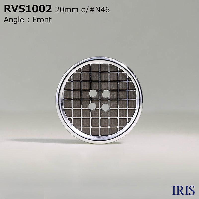 RVS1002 アルミ/ポリエステル樹脂 表穴4つ穴ボタン  4サイズ3色展開