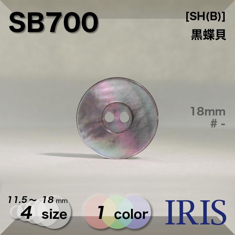 SB700 黒蝶貝 表穴2つ穴ボタン  4サイズ1色展開