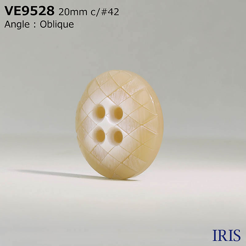 VE9528 ポリエステル樹脂 表穴4つ穴ボタン  4サイズ4色展開