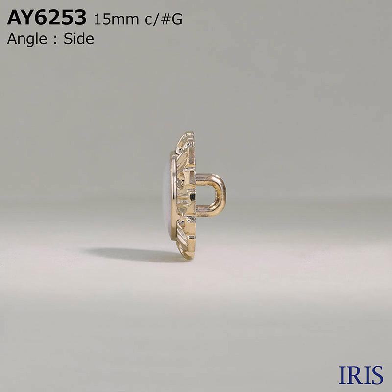 AY6253 エポキシ樹脂/ABS樹脂 角カン足ボタン  3サイズ2色展開