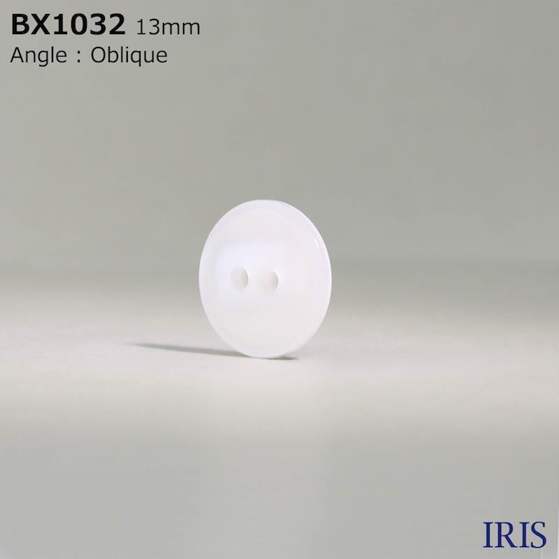 BX1032 ポリエステル樹脂 表穴2つ穴ボタン  2サイズ1色展開