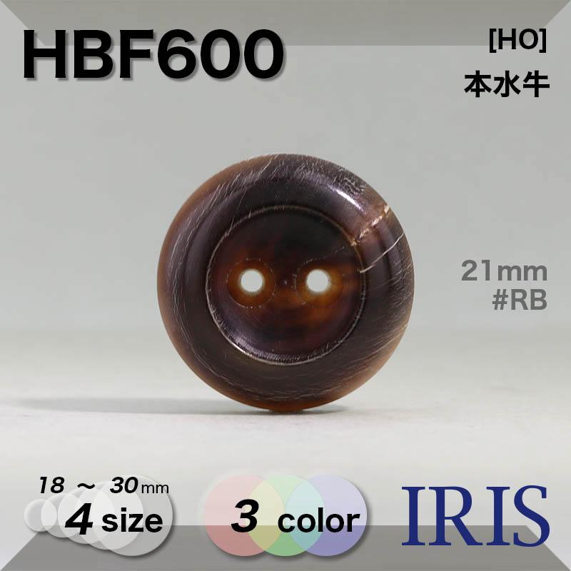 HBF600 本水牛 表穴2つ穴ボタン  4サイズ3色展開