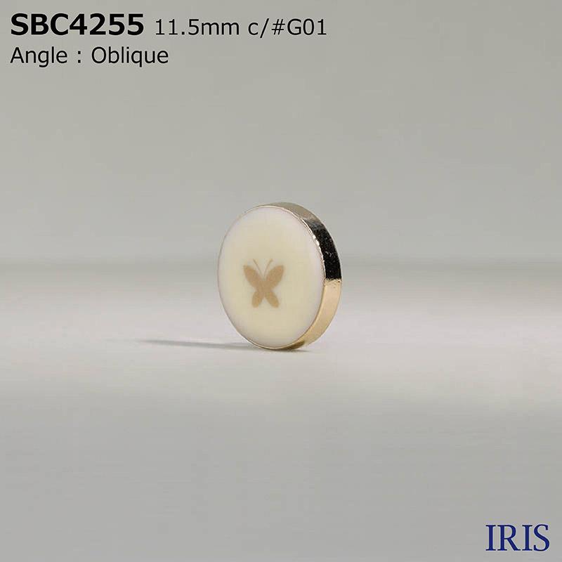 SBC4255 エポキシ樹脂/ダイカスト 丸カン足ボタン  2サイズ4色展開