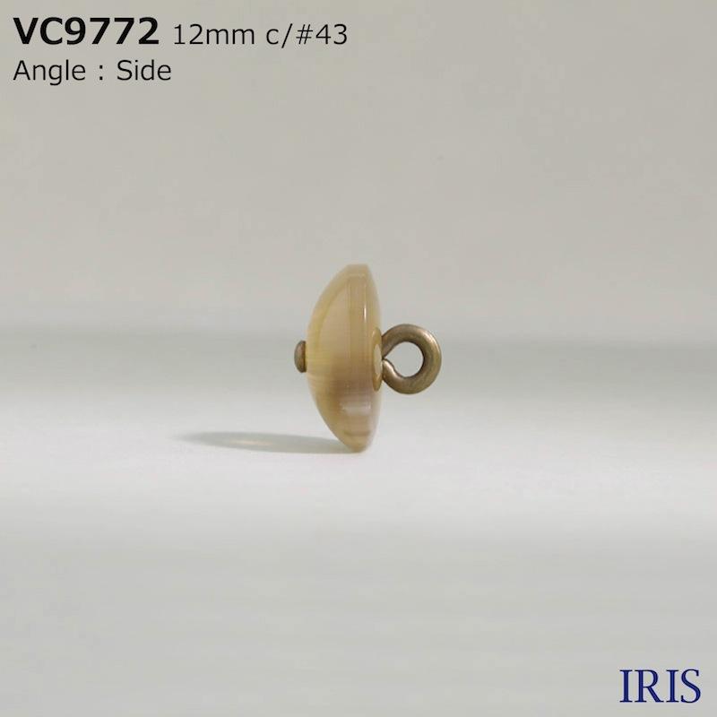 VC9772 ポリエステル樹脂/真鍮 丸カン足ボタン  2サイズ4色展開