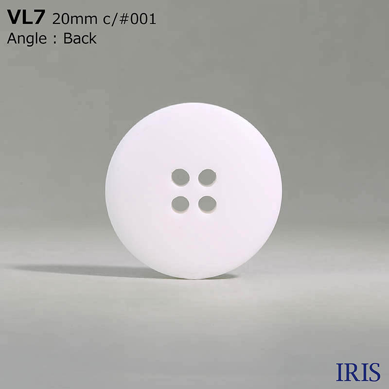 VL7 ポリエステル樹脂 表穴4つ穴ボタン  6サイズ2色展開