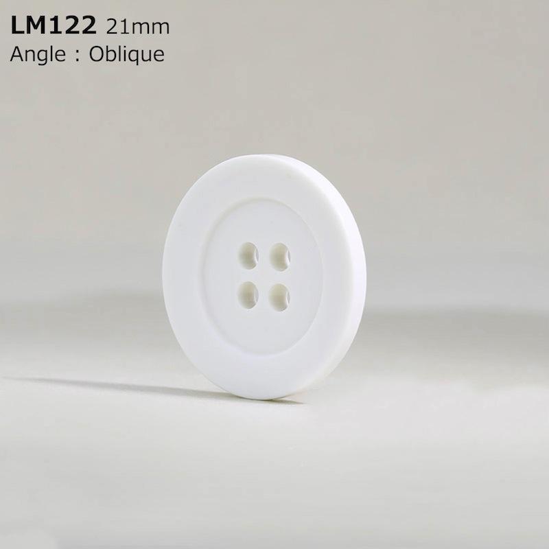 LM122 カゼイン樹脂 表穴4つ穴ボタン  8サイズ1色展開